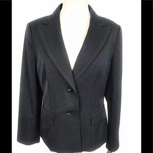 Evan picone Blazer business jacket 12 stripe blue